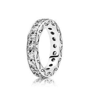 Pandora Silver Crystal eternity ring 5